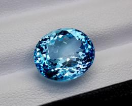 9.45Crt Blue Topaz Natural Gemstones JI66