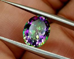 2.35Crt Mystic Quartz Natural Gemstones JI66