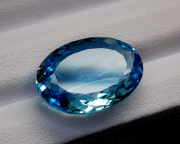 17Crt Blue Topaz Natural Gemstones JI66