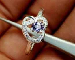 13Crt Spinel 925 Silver Ring Natural Gemstones JI66