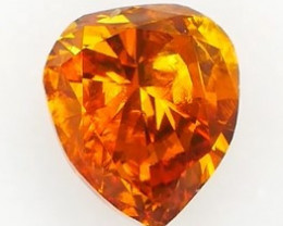 * NR* IGI DIAMOND Intense Yellowish Orange 0.57Ct NO TREATMENT