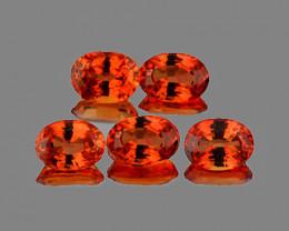 4x3 mm Oval 5 pcs 1.20cts Orange Sapphire [VVS]