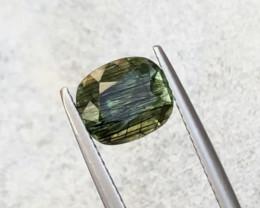 2.95 Carats Natural Rutile Peridot Cut Stone from Pakistan