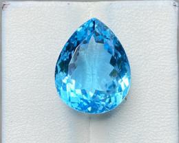 Natural Blue Topaz 16.75 Cts Good Luster