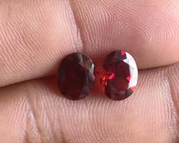 9x7 mm Garnet Pair 100% NATURAL AND UNTREATED VA613