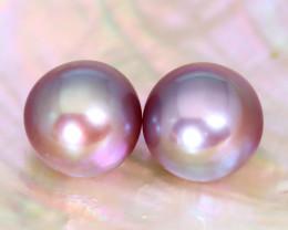 10.1mm 14.69Ct Natural Tahitian Purple Black Pearl B1709