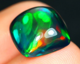Opal 3.75Ct Natural Bright Color Play Welo Black Smoked Opal B1722