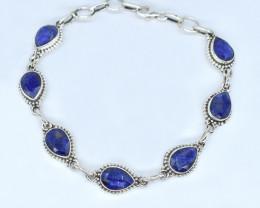 BLUE SAPPHIRE BRACELET NATURAL GEM 925 STERLING SILVER AB100