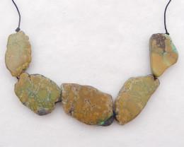P0321 - 139.5Ct Nugget Turquoise Pendant Bead Strands, Natural Gemstone Tur