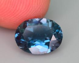 Ring Size Topaz 1.65 Ct Natural London Blue Topaz