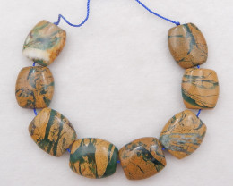 P0329 - 191.5cts Natural Green Opal Pendant Beads Strands,Natural Gemstone