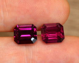Umbalite Garnet Octagon Pair 3cts each Total 6.15cts