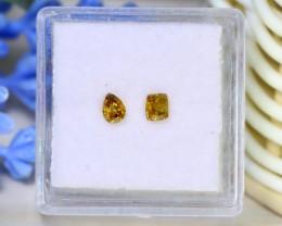 Yellow Diamond 0.40Ct 2Pcs Untreated Genuine Fancy Diamond C1805