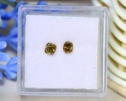 Green Yellow Diamond 0.50Ct 2Pcs Untreated Genuine Diamond C1809