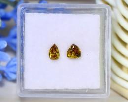 Orange Diamond 0.58Ct 2Pcs Untreated Genuine Fancy Diamond C1822