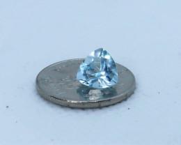 Brilliant Trillion cut Aquamarine. RA 00001