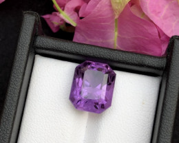 Top Grade Spider Cut 7.05 cts of Natural Amethyst Ring Size
