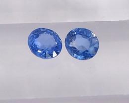 0.83ct clean unheated blue sapphire