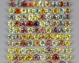 3.14ct. 1.7mm. 115pcs. Round Cut 100% Natural Fancy Colors Sapphire Songea