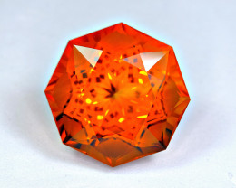 Flawless 40.64  Carat Precision Master Cut Citrine Gemstone
