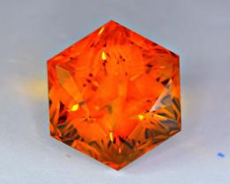 Flawless 56 Carat Precision Master Cut Citrine Gemstone