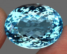 34.71 ct. 100% Natural Earth Mined Top Quality Blue Topaz Brazil