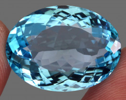 32.04  ct. 100% Natural Earth Mined Top Quality Blue Topaz Brazil