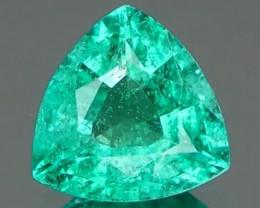 *Bidding Starts $15 NR* Fiery Brazilian Emerald Trillion 0.32Ct