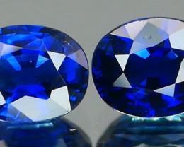 *Bidding Starts $15 NR* Royal Blue Sapphire Pair 0.78Ct