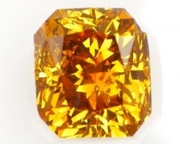 *NR* IGI Certified Radiant Cut Orange Yellow Diamond 1.04Cts NO TREATMENT