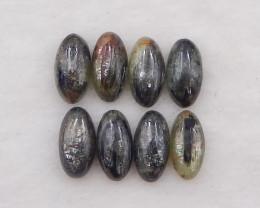 D2066 - 37cts 8pcs yellow quartz cabochons pair,natural yellow quartz gemst