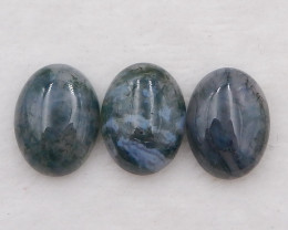 D2067 - 40cts moss agate cabochons pair,natural moss agate gemstone, moss a