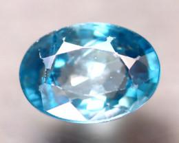 Blue Zircon 3.84Ct Natural Cambodian Blue Zircon  E2304/B6
