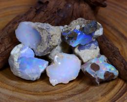 Welo Opal Rough 71.60Ct Natural Ethiopian Flash Color Rough Opal A2105