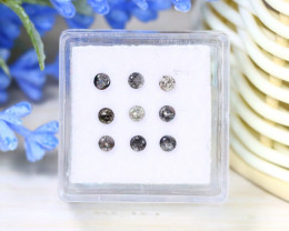 0.67Ct 2.6mm Salt And Pepper Diamond Untreated Genuine Lot C2107