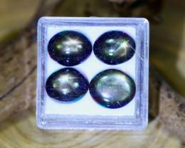Star Sapphire 20.02Ct Natural Thailand Golden Black Star Sapphire Lot C2130