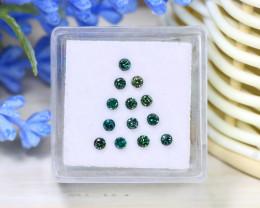 0.52Ct 2.1mm Natural Green Color Diamond Fancy Genuine Lot C2132