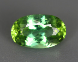 0.655 Cts Elbaite Mint Tourmaline 100% Natural Copper Bearing Unheated