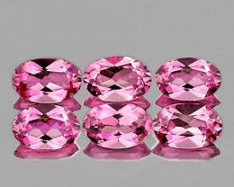 5x3 mm Oval 6pcs 1.30cts Pink Tourmaline [VVS]