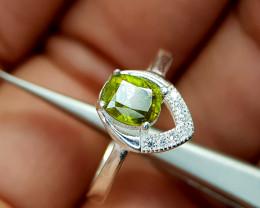 11.85Crt Sphene 925 Silver Ring Natural Gemstones JI67
