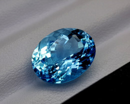 8.85Crt Blue Topaz Natural Gemstones JI67