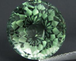 7.73Cts Stunning Natural Green Amethyst (prasiolite) Round precision Cut Lo