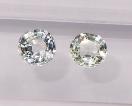 1.23ct Natural unheated white sapphire