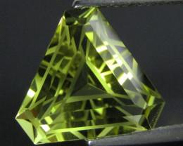 7.37Cts Genuine Natural Lemon Quartz Fashion Triangle Cut Loose Gemstone RE