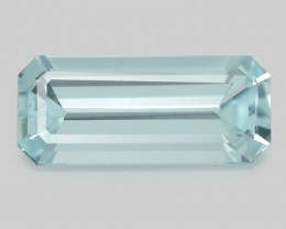 Aquamarine 6.85 Cts Unheated  Santa Maria Blue  Natural Gemstone
