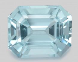 Aquamarine 14.75 Cts Unheated  Santa Maria Blue  Natural Gemstone