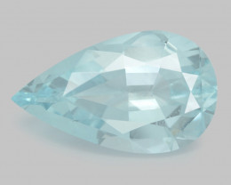 Aquamarine 8.82 Cts Unheated  Santa Maria Blue  Natural Gemstone