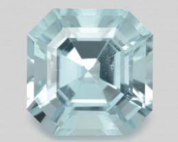 Aquamarine 12.27 Cts Unheated  Santa Maria Blue Natural Gemstone