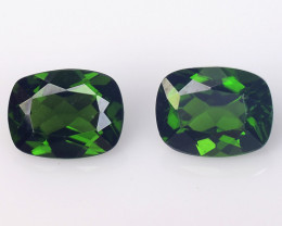Chrome Diopside 2.95 Cts 2Pcs Natural Green Color Gemstone