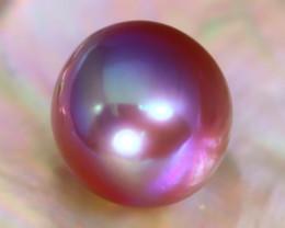 13.5mm 17.92Ct Natural Tahitian Purple Black Pearl B1903